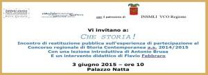 Concorso regionale di Storia Contemporanea a.s. 2014/2015 @ Palazzo Natta