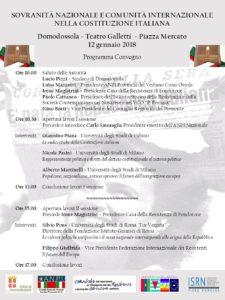 Convegno per il 70° della Costituzione a Domodossola (VB)